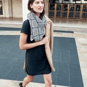 Madewell et Sezane Black Lace Shift Dress Size 0